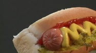 Stock Video Footage of A rotating hot dog