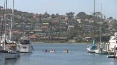 San Diego Harbor Kayak 2 of 2 Stock Footage