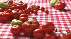 Fresh tomatoes and spaghetti with tomato sauce Stock Footage