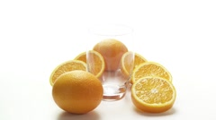 Pouring orange juice - stock footage