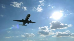 Airplane  flying over head slow motion - stock footage