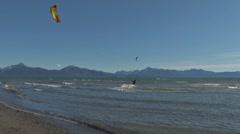 Kite Surfers 3 Stock Footage