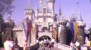 Stock Video Footage of Disneyland Theme Park Circa 1965 (Vintage Film 8mm Home Movie) 340