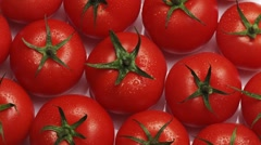 Rotating tomatoes Stock Footage