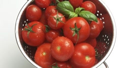 Washing tomatoes Stock Footage