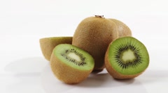 Rotating kiwi fruits Stock Footage