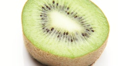 Rotating kiwi fruit half Stock Footage
