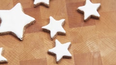 Rotating cinnamon stars Stock Footage