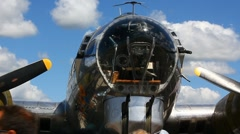WWll B-17 Stock Footage