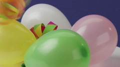 Balloons and paper streamers Stock Footage