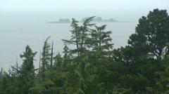Raining costal islands Stock Footage