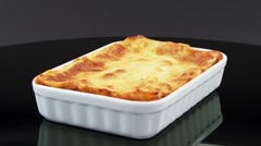 Lasagne in a baking dish Stock Footage