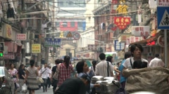 Chinees street - stock footage