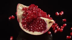 Piece of pomegranate Stock Footage