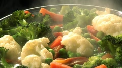 Cooking vegetables Stock Footage
