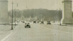 Car on ARLINGTON MEMORIAL BRIDGE Traffic 1940s Vintage Film Home Movie 348 - stock footage