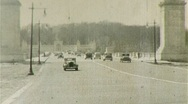 Stock Video Footage of ARLINGTON MEMORIAL BRIDGE Traffic 1942 (Vintage Old Film Home Movie) 348