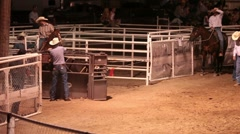 Steer wrestling rodeo P HD 9898 Stock Footage