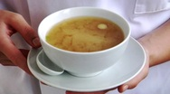 Eating miso soup Stock Footage