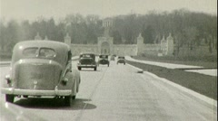 Arlington Memorial Bridge National Cemetery 1940s Vintage Film Home Movie 349 Stock Footage