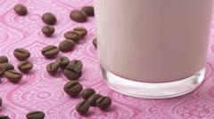 Caffe latte Stock Footage