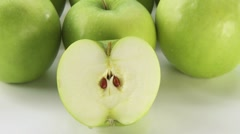 Granny Smith apples Stock Footage