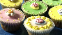 Colourful cupcakes Stock Footage