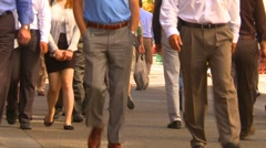 Anonymous people walking down mall, #7 Stock Footage