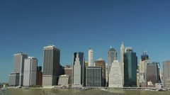 New York City Manhattan Skyline downtown Tilt down 1080 60i - stock footage