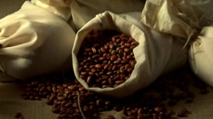 Pinto beans in a sack Stock Footage