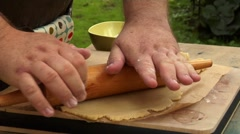 Rolling out pastry Stock Footage