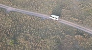 Stock Video Footage of Safari Vehicle from Hot Air Balloon