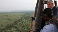 Stock Video Footage of Hot Air Balloon Piloted over the Masai Mara  (HD)