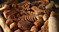 Stock Video Footage of Various types of bread and bread rolls