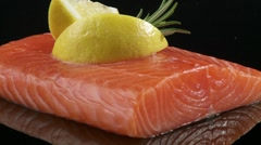Salmon fillet Stock Footage
