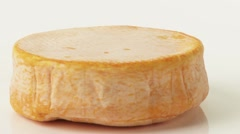 Stock Video Footage of A whole washed rind cheese