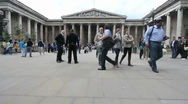 British Museum, London, UK Stock Footage