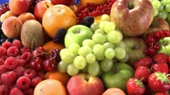 Bowl of fruit - stock footage