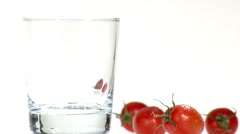 Pouring tomato juice into a glass Stock Footage