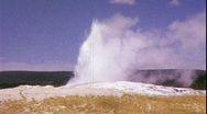 Old Faithful Yellowstone Geyser Wyoming National Park Vintage Film Home Movie Stock Footage