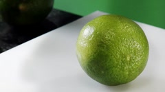 Slicing a lime - stock footage