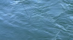 Down-rigger Line in Water - stock footage