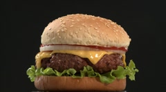 A cheeseburger Stock Footage