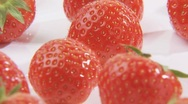 Stock Video Footage of Rotating strawberries