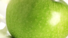 Green apples (variety 'Granny Smith') Stock Footage