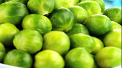 Brussels sprouts in a dish Stock Footage