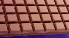 A bar of chocolate Stock Footage