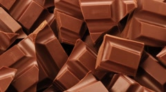Pieces of chocolate (full-frame) Stock Footage