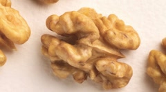 Shelled walnuts Stock Footage
