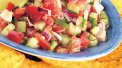 Salsa with nachos Stock Footage
